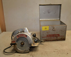Porter Cable 1950 Model 146 Circular Saw Case Collectible Woodworking Tool S1