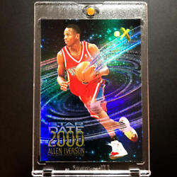 Nba Card Allen Iverson Rc 1996-97 Skybox Ex2000 Star Date Rookie Card Usedf9d1mn