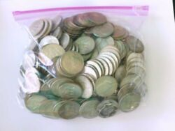 107 Face Value Of 40 Us Silver Half Dollars/ Couple Of Dollars. Buy Now