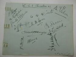 England Cricketers - Autographs - 1919