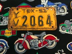 1951 Texas Motorcycle License Plate Yv2064