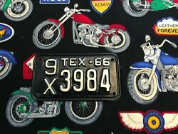 1966 Texas Motorcycle License Plate 9x3984