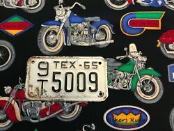 1965 Texas Motorcycle License Plate 9t5009