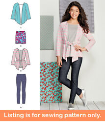 Sewing Pattern - Sew Girls Clothes Clothing - Tween Teen Plus Size Shirt - 1025