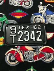 1962 Texas Motorcycle License Plate 9t2342