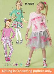 Sewing Pattern - Sew Girls Clothes Clothing - Tween Teen Plus Size Skirt - 7238