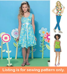 Sewing Pattern - Sew Girls Clothes Clothing - Tween Teen Plus Size Dress - 7347