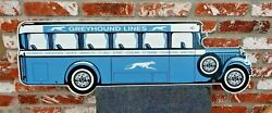 Old Style Greyhound Bus Lines  Die Cut Bus Sign Porcelain