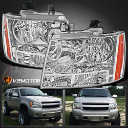For 2007-2014 Chevy Avalanche Tahoe Suburban Clear Headlights Left+right 07-14