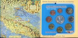 San Marino 2005 Official Coins Set From 1 Cent To 2 Euro And 5 Euro Silver Coin