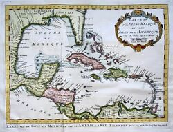 1770 Schley After Bellin - Map Of Gulf Of Mexico Central America