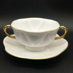 Set Of 8 Shelley Regency Cream Soup Bowls And Saucers Ch6046