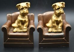 Pair Of Nuart Vintage Dog On Armchair Bookends