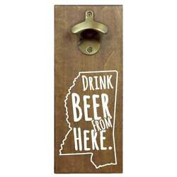 Mississippi Drink Beer From Here Cap Catching Magnetic Bottle Opener