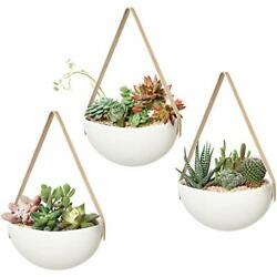 Ceramic Hanging Planter Wall Planters Set of 3 Modern Flower Plant Pots for