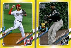 2021 Topps Series 1 Walgreens Yellow Parallel W Rookie Rc - You Pick From A List