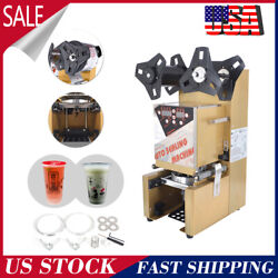 Electric Fully Automatic Cup Sealing Machine 350w For Milk Bubble Tea 300 Cups/h