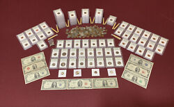 Lot Of Certified Old Coins And Dollars