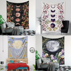 Psychedelic Moon Starry Tapestry Room Flower Wall Hanging Dorm Home Art Decor US
