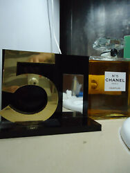 No5 Gold 5 Logo With19x23x8cm Glossy Black Shop Factice Display Near Mint