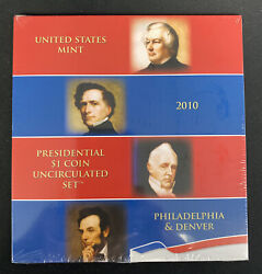 2010 Presidential Dollars Mint Annual Uncirculated Set 4-p And 4-d In Shrink Wrap