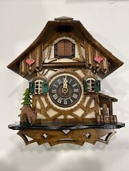 German Cuckoo Clock Quartz-movement By Engstler 8andrdquo Inches Tall And Wide