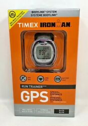 Timex T 5k630 L3 Ironman Run Trainer Gps Watch With Hrm Silver And Pink Elite New