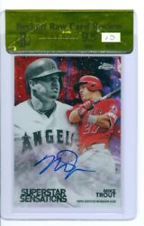2018 Topps Chrome Mike Trout Autograph 1/5 Beckett Raw Review 9.5 Auto 10 Sweet