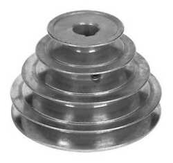 Congress Sca500-4x062kw 5/8 Or 1/2 Fixed Bore 4 Groove Stepped V-belt Pulley