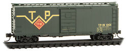 Micro-trains Mtl N-scale 40ft Box Car Toledo, Peoria And Western/tpandw 1001