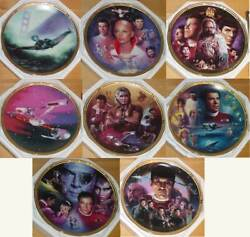 Star Trek The Movies Complete Set Of 8 8 Plates 1995 Hamilton Collection