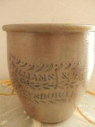 1880's Williams And Reppert Greensboro Pa Stoneware Ovoid Crock 8 Cobalt Blue