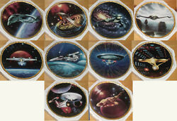 Star Trek The Voyagers Complete Set Of 10 8 Plates 1994 Hamilton Collection