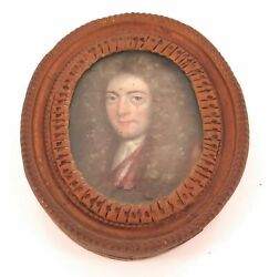.king William Iii / William Of Orange Incredibly Rare C1700 Framed Oil On Copper