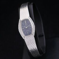 Omega Geneve Lady 60s 18 Kt White Gold With Diamonds Manual Winding Serviced