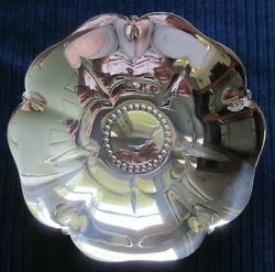 Sterling Mid-century Floral Candy/nut Dish 5dia X 1 1/4tall