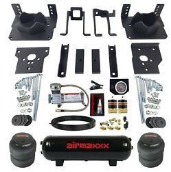Air Bag Tow Kit Black Controls Compressor And Tank For 2011-16 Ford F250 F350 2wd