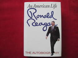 An American Life - Signed By Ronald Reagan - Autobiography 1st Ed, 1st Printing