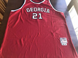 Mitchell And Ness 1981-82 Dominique Wilkins Georgia Bulldogs Jersey Sz 60