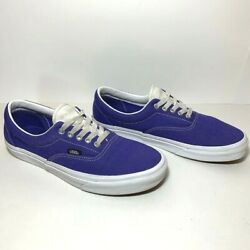 Vans Off The Wall Purple amp; White Classic Shoes 500714 Mens Sz 9.5 Womens 11