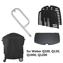 Grill Cover Replacement Burner Cooking Grates For Weber Q100 Q120 Q1000 Q1200