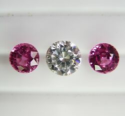 1.99ct Pink Ceylon Sapphires Natural Colour -matching Pair+certificate Included