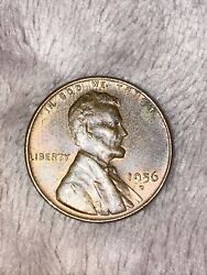 1956-d Us Wheat Penny Lincoln Cent From Coin Collection