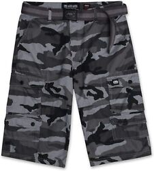 Cargo Shorts For Men - Mens And Big And Tall Twill Cargo Shorts With Belt - Ecko