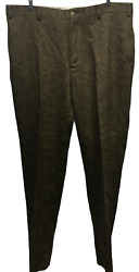 Nwt Orvis Signature Collection Donegal Flat Front Tweed Pants Size 42