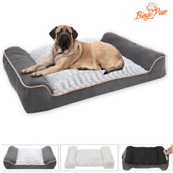 Thicken Waterproof Extra Large Dog Bed With Pillow M/l/xl/xxl Fit 37-154 Lbs Dog
