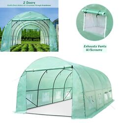 Greenhouse 20x10x7ft Large Portable Walk-in Hot Green House Plant Gardening New
