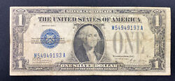 Us Currency 1928 A 1 One Dollar Silver Certificate Blue Seal. Funny Back