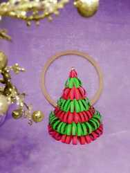New Handmade Home Made Multi Color Papers Christmas Tree Home Decorations