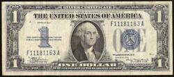 1934 1 Dollar Bill Silver Certificate Funnyback Blue Seal Note Old Paper Money
